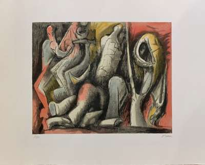 Four Ideas for Sculpture (Lithographie) - Henry  MOORE