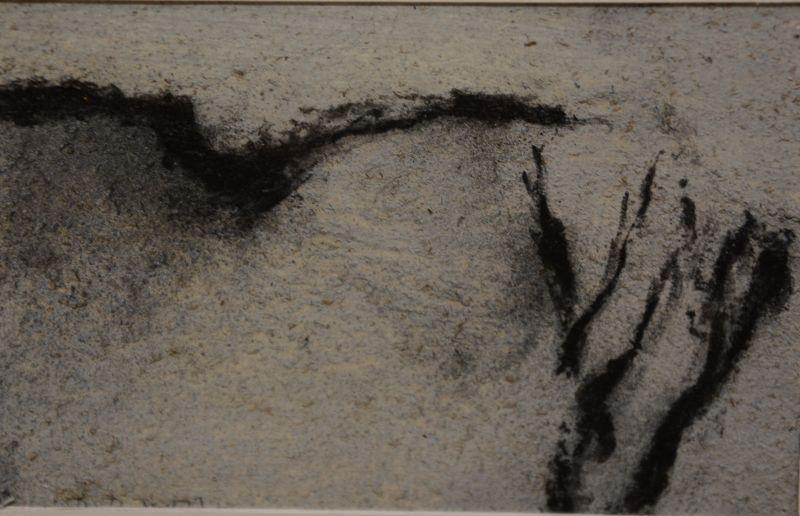 Falaise grise III (Fusain) - Jean-Jacques  DOURNON
