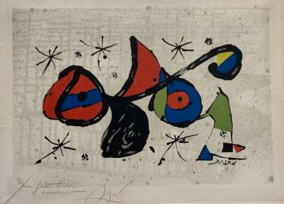 Composition (Lithographie) - Joan  MIRO