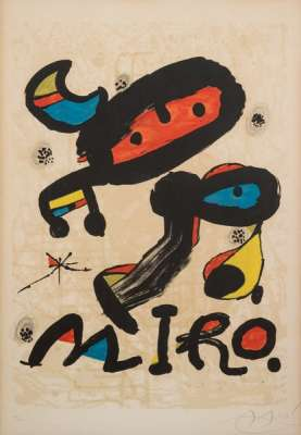 Exhibition at the Museum of Modern Art in Mexico City (Lithograph) - Joan  MIRO