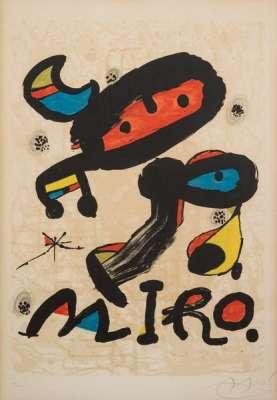 Affiche pour exposition au Musée d'art moderne de Mexico (Lithographie) - Joan  MIRO