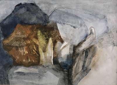 La colombe (Huile sur papier (contemporain)) - Véronique NEROU