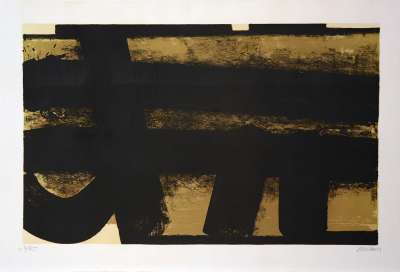 Lithographie n°35 (Lithographie) - Pierre  SOULAGES