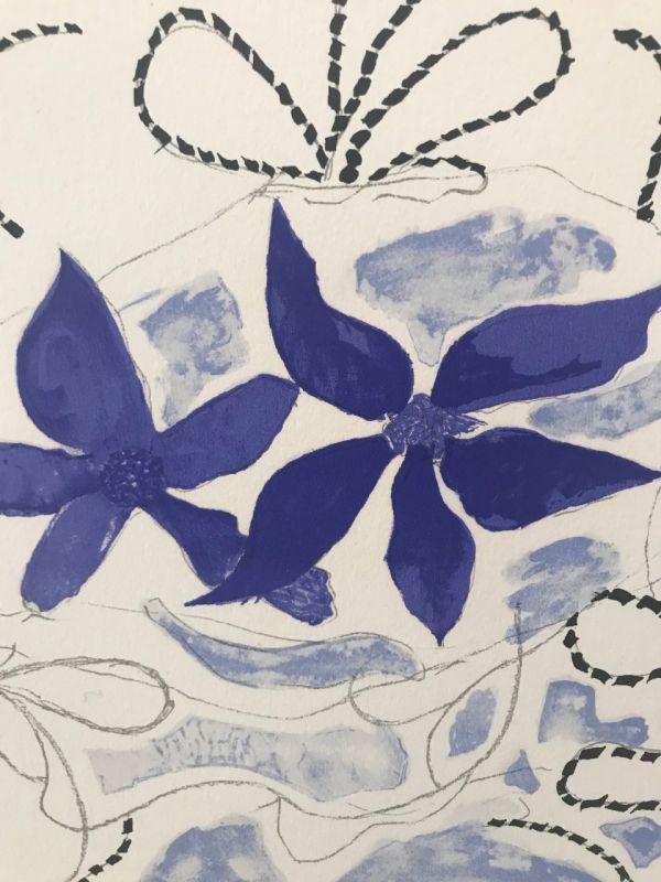 Lettera Amorosa : Les deux iris bleus (Lithographie) - Georges BRAQUE
