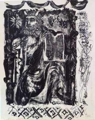 Moïse (Lithograph) - Antoni CLAVE