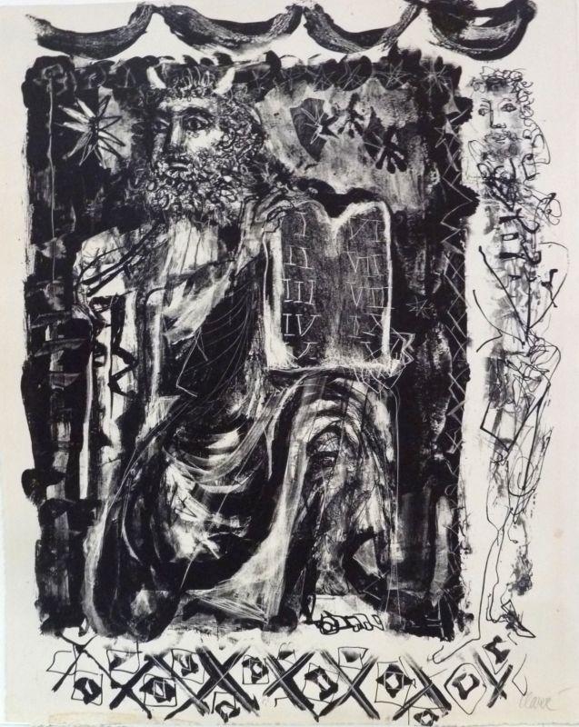 Moïse (Lithographie) - Antoni CLAVE