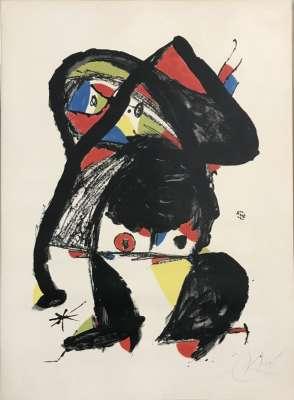 El Golafre (Lithographie) - Joan  MIRO