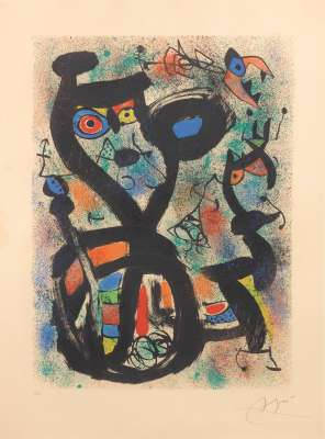 Le Chat (Lithographie) - Joan  MIRO