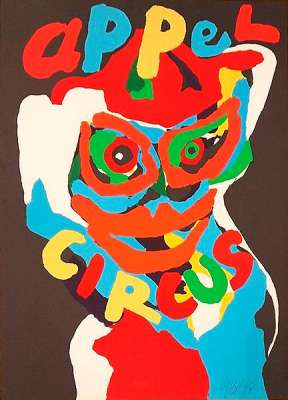 Circus (Lithographie) - Karel APPEL