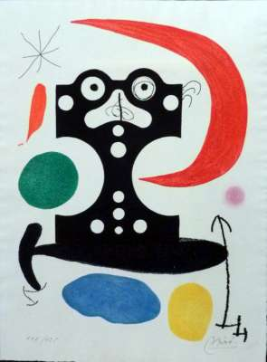 Hommage à Marcel Duchamp (Aquatinte) - Joan  MIRO