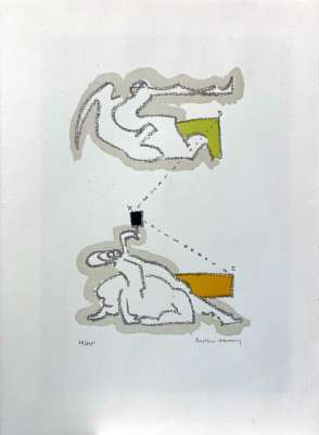 Le geste (Lithographie) - Dorothea  TANNING