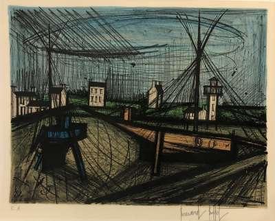 Le port (Lithographie) - Bernard BUFFET