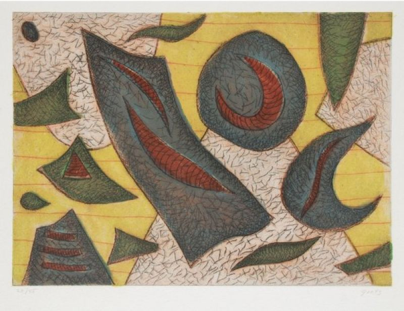 Composition (Eau-forte et aquatinte) - Henri GOETZ