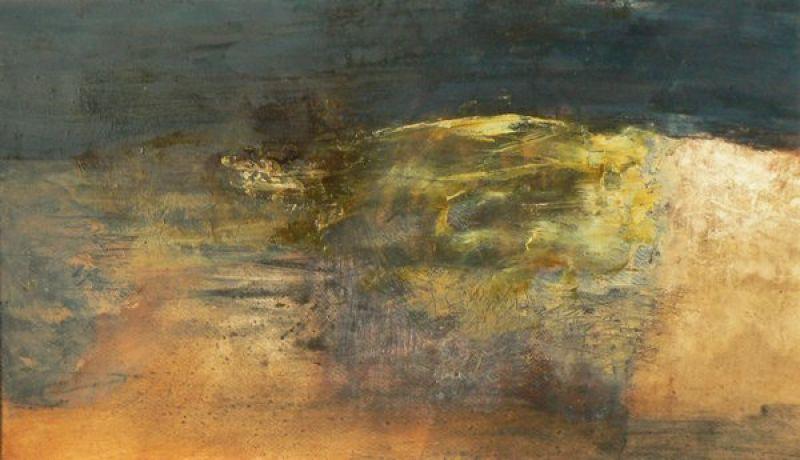 Sous la mer (Huile sur papier) - Véronique NEROU