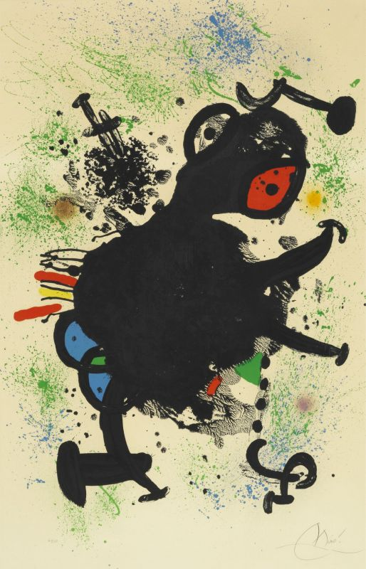 La Rhinocérine (Lithographie) - Joan  MIRO