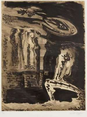 The guardians of Silence I (Etching and aquatint) - André  MASSON