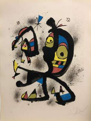 Pour exposition Joan Miro Obra Grafica Fundacio Joan Miro (Lithographie) - Joan  MIRO