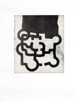 Tribute to Sir Roland Penrose (Etching and aquatint) - Eduardo CHILLIDA