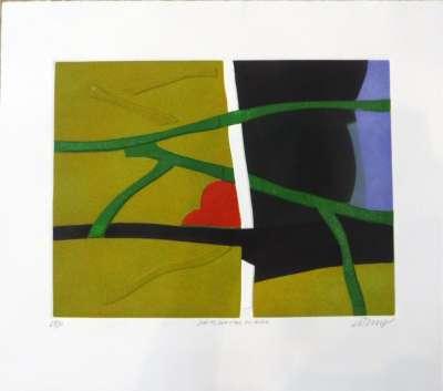 Sur les sentiers du rêve (Linogravure) - Bertrand DORNY