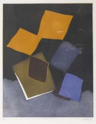 Chateau de cartes (Eau-forte et aquatinte) - Bertrand DORNY