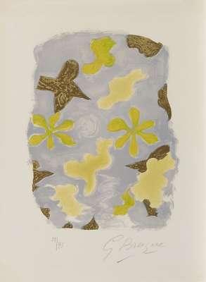 La Sorgue (Lithographie) - Georges BRAQUE
