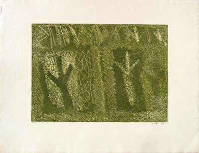No title (Lithograph) - Riccardo  LICATA