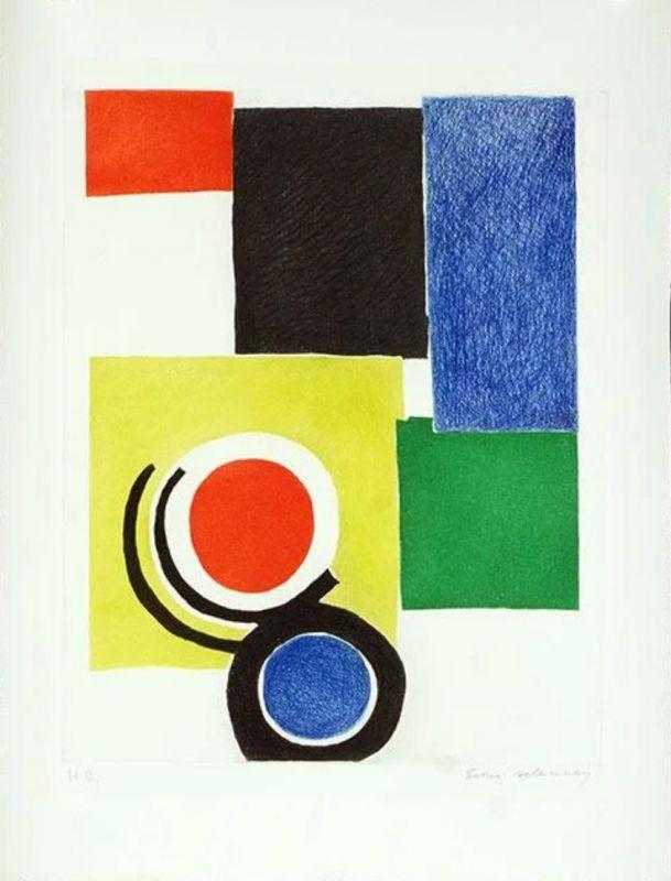 Composition polychrome (Eau-forte et aquatinte) - Sonia DELAUNAY-TERK