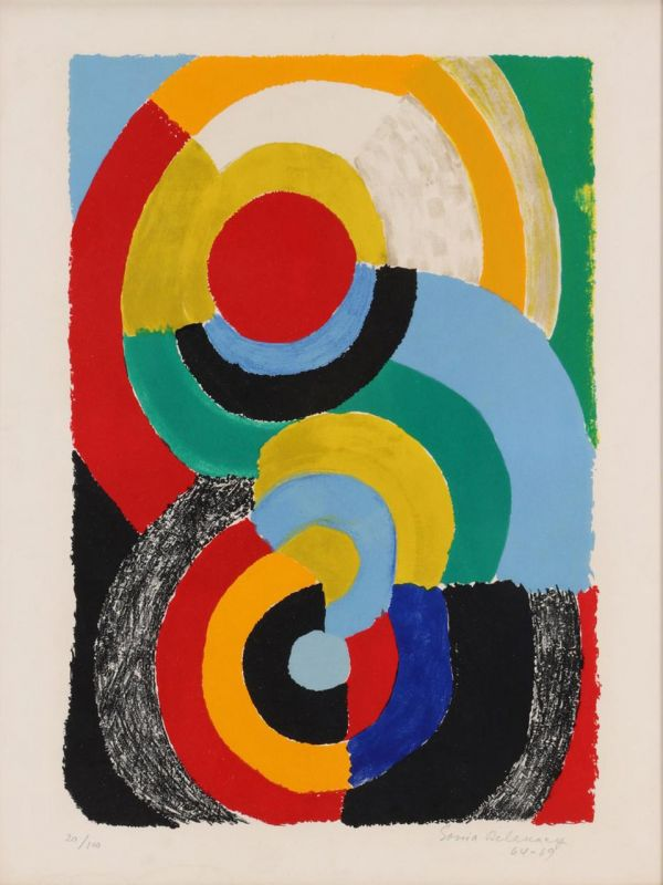 Rencontre (Lithographie) - Sonia DELAUNAY-TERK