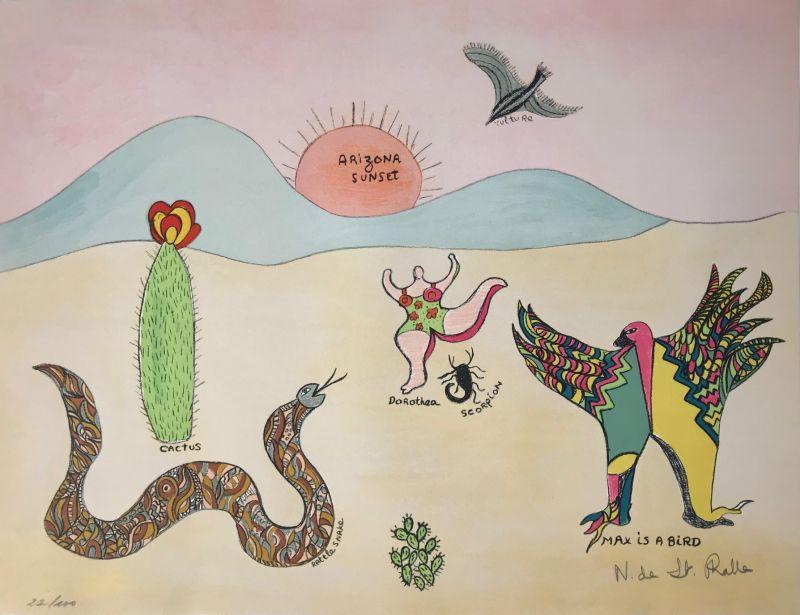 Max is a bird (Lithographie) - Niki DE SAINT PHALLE