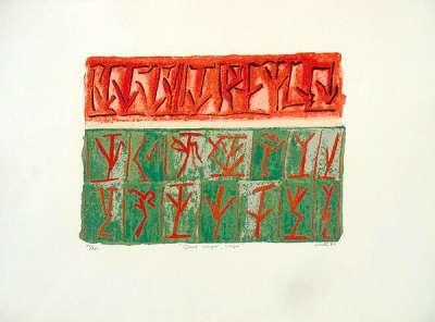 Quod scripsi, scripsi (Aquatint) - Riccardo  LICATA