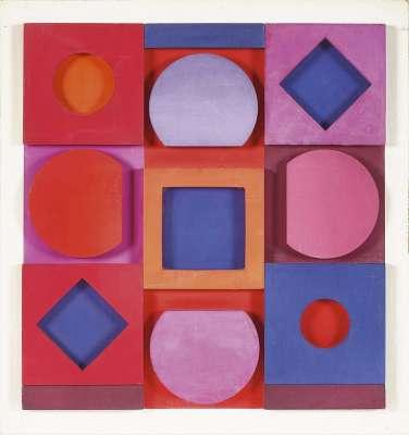"""""""Granat"""" négatif (Sculpture) - Victor  VASARELY"""
