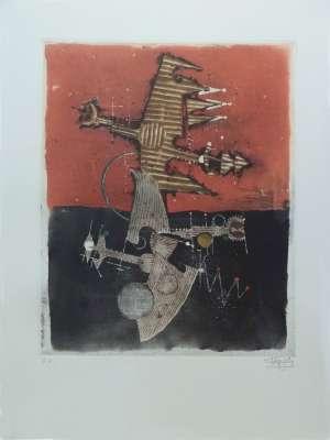 Oiseaux (Radierung und Aquatinta) - Johnny FRIEDLAENDER