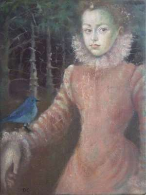 La infanta de Coello en el bosque (Öl auf Leinwand) - Dolores  CAPDEVILA