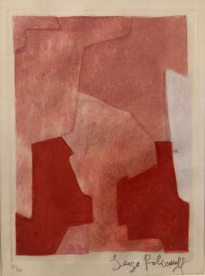Composition rose XXII (Gravure) - Serge  POLIAKOFF
