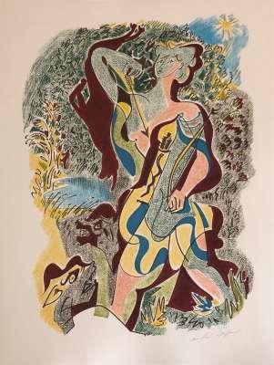 Sonnets de Louise Labé (Lithograph) - André  MASSON
