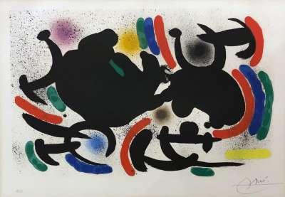 Miro Lithographe I Planche 9 (Lithographie) - Joan  MIRO