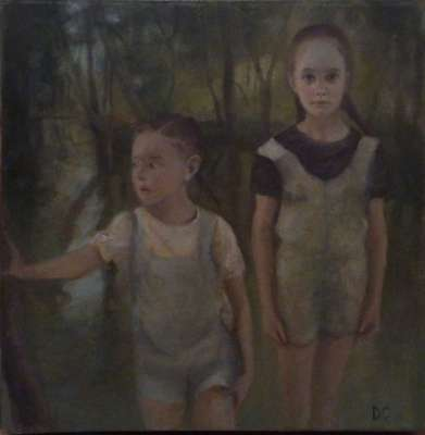Tarde verde (Oil on canvas) - Dolores  CAPDEVILA