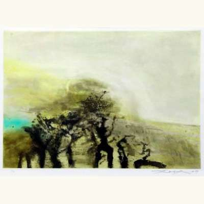 Sans titre (Etching and aquatint) - Wou-ki  ZAO