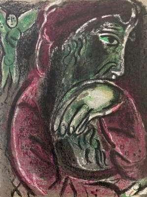 Job désespéré (Lithographie) - Marc CHAGALL