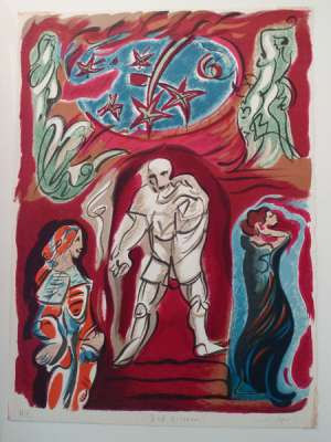 Don Giovanni (Lithographie) - André  MASSON