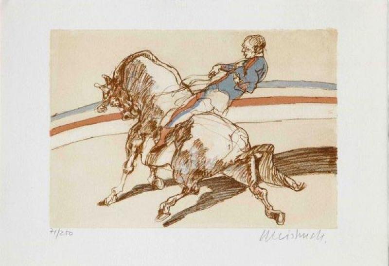 L'écuyer (Lithographie) - Claude WEISBUCH