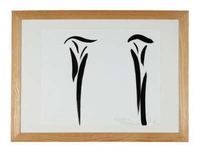 Double signe-personnage (Encre sur papier) - Olivier DEBRE