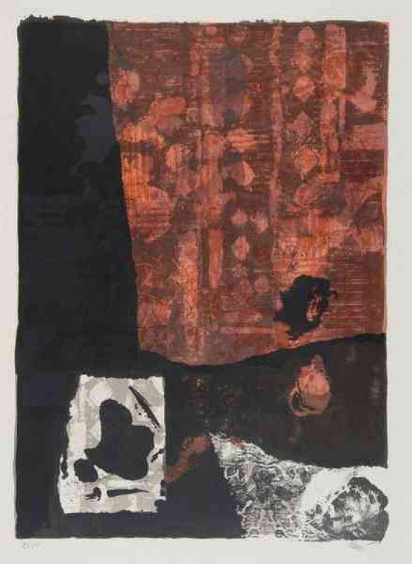Rouge et Noir (Lithographie) - Antoni CLAVE