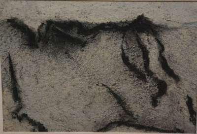 Falaise grise I (Fusain) - Jean-Jacques  DOURNON