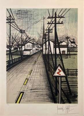 La route (Lithograph) - Bernard BUFFET