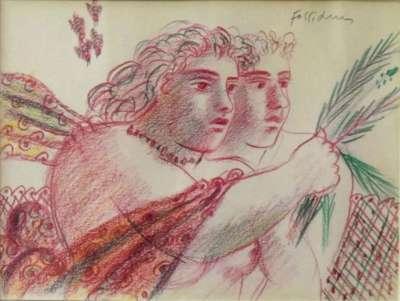 Couple (Drawing) - Alekos FASSIANOS