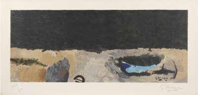 La Barque sur la grève (Lithographie) - Georges BRAQUE