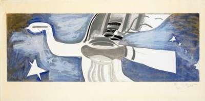 Grand oiseau bleu (Lithographie) - Georges BRAQUE