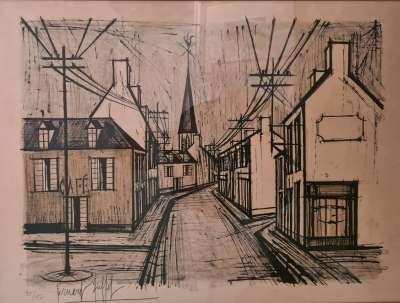 Rue de village (Lithographie) - Bernard BUFFET