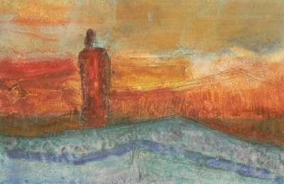 Fête Gypsee (Fusain) - Véronique NEROU